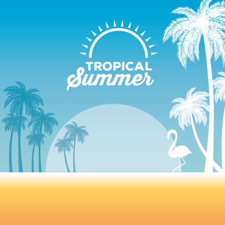 summer tropical background vector illustration graphic design