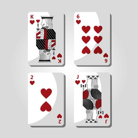 Poker casino cards illustration.