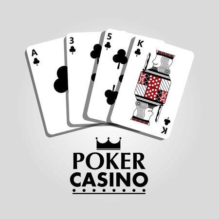 Poker, clover casino cards concept vector illustration Illustration