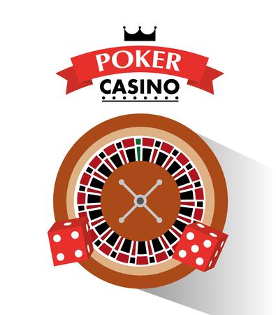 火かき棒のカジノのサイコロやルーレットのホイールは、ゲーム ベクトル図をベットします。