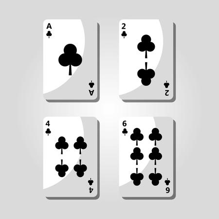 Poker Poker Cards Illustration Archivio Fotografico - 89472849