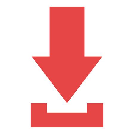 Pijl download geïsoleerd pictogram vector illustratie ontwerp Stockfoto - 89492422