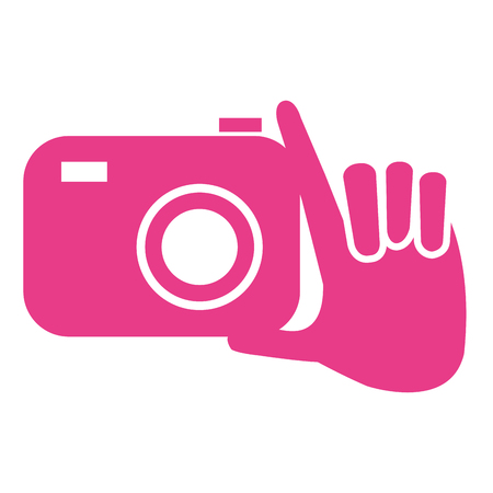 Hand with camera icon.