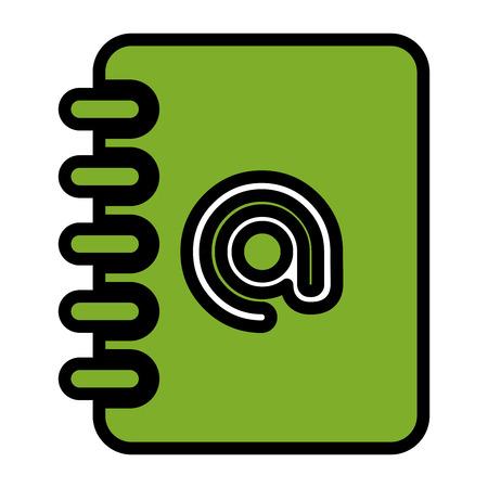 agenda with symbol of at vector illustration design