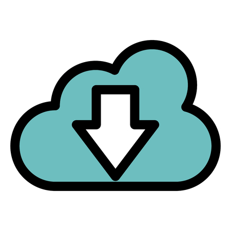 cloud computing with arrow down vector illustration design