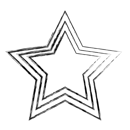 favorite star isolated icon vector illustration design