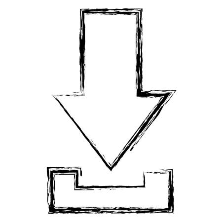 矢印ダウンロード分離されたアイコンベクトルイラストデザイン