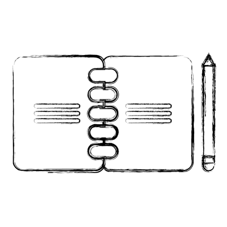 notebook with pencil icon vector illustration design