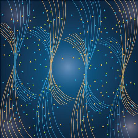 데이터 센터 미래의 추상 연결 벡터 일러스트 레이션