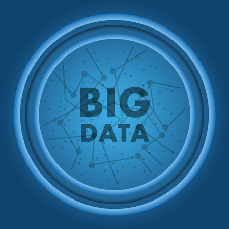 큰 데이터 연결 정보 기술 기호 벡터 일러스트 레이션