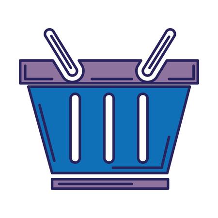 shopping basket isolated icon vector illustration design Illustration