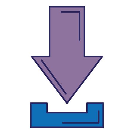 Download de seta isolado ícone vector ilustração design Foto de archivo - 89507863