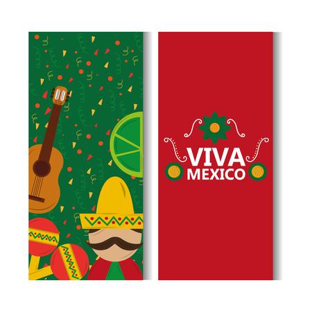 Viva mexico banner. Ilustracja