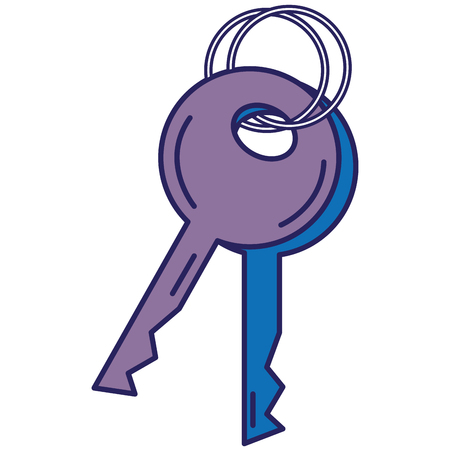 keys security isolated icon vector illustration design