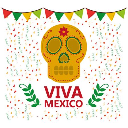 Viva mexico banner. Illustration