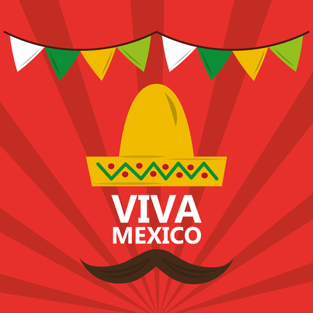 Viva mexico banner. Stock Illustratie