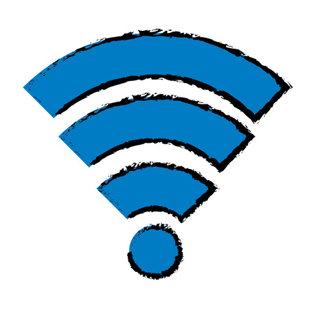 wifi signal isolated icon vector illustration design Stock Vector - 89548664