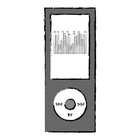 mp3 player music device vector illustration design Ilustração