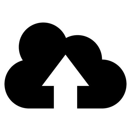 Cloud uploading icon. Illustration