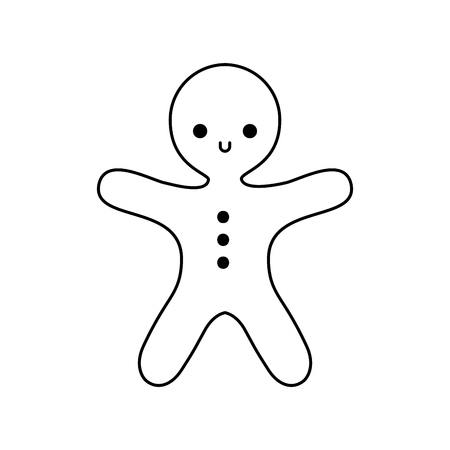 Gingerbread doodeenvoudig ontwerp pictogram. Stock Illustratie