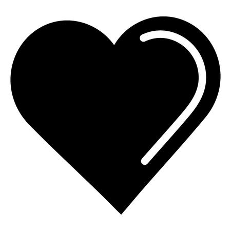 hart liefde geïsoleerd pictogram vector illustratie ontwerp Stock Illustratie