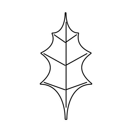 leaf christmas decoration nature element icon illustration Ilustracja