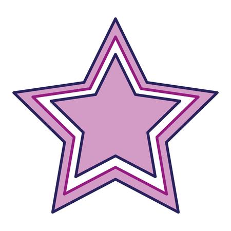 Purple star icon. Illustration