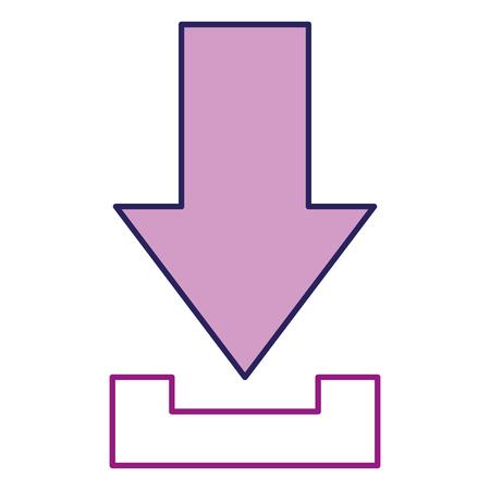 矢印のダウンロードアイコン。  イラスト・ベクター素材