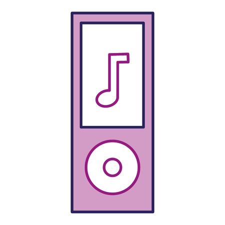 Purple mp3 player icon.