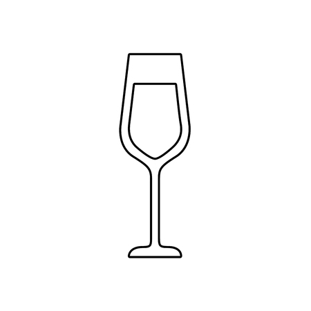 Champagne glass drink icon.