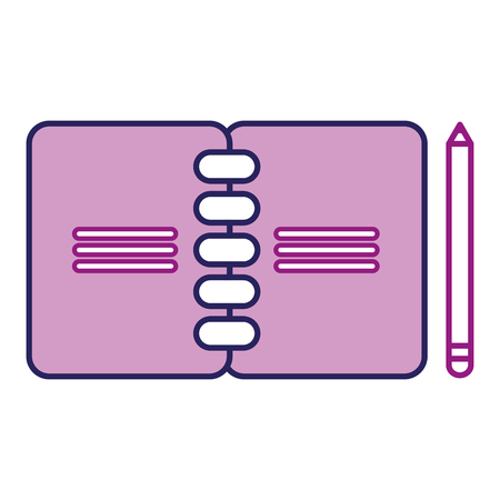 Notebook and pencil icon.