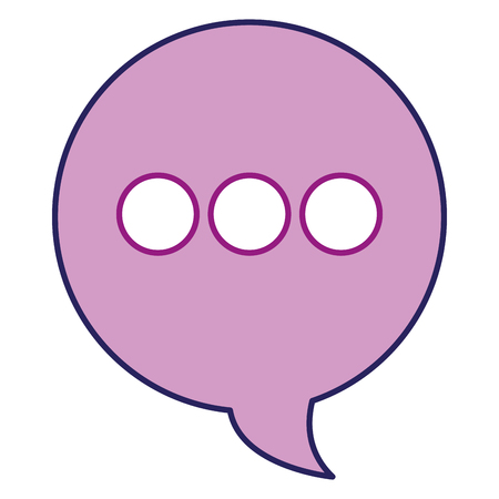 Purple circle speech bubble. 向量圖像