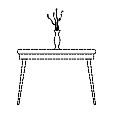 花瓶付きテーブルアイコンベクトルイラストデザイン 写真素材 - 89522612