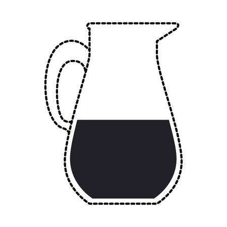 ジュースのガラス鍋のアイコン。