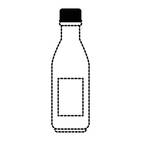 Plastic bottle beverage icon illustration.