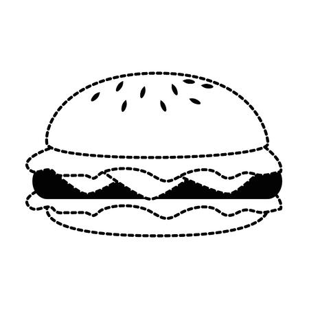 Burger icon illustration. Illustration