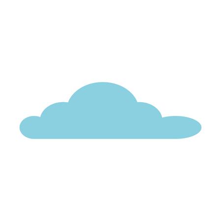 cloud sky isolated icon vector illustratie ontwerp