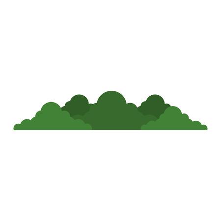 bush garden isolated icon vector illustration design Иллюстрация
