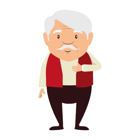 ślicznego dziadka avatar avatar wektorowy ilustracyjny projekt Ilustracje wektorowe