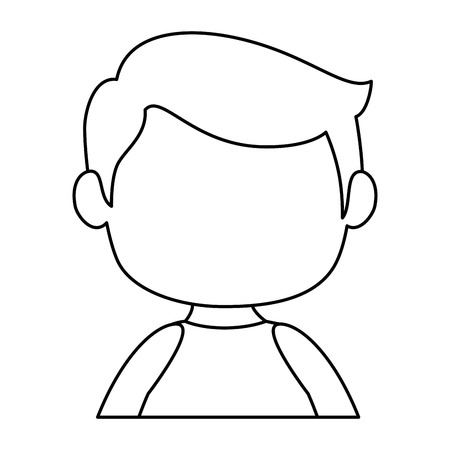 little boy avatar characters vector illustration design