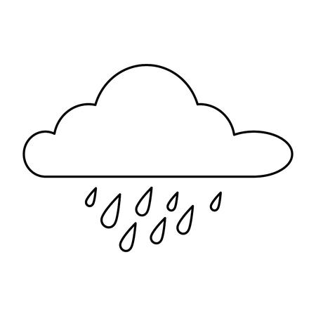 ontwerp van de het pictogram vectorillustratie van de wolken het regenachtige hemel geïsoleerde Stock Illustratie