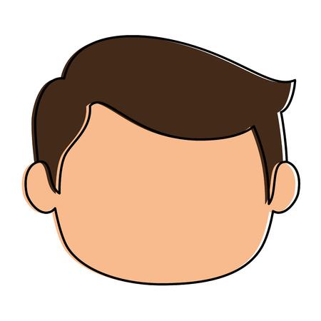 小さな男の子ヘッドアバターキャラクターベクターイラスト、グラフィックデザイン。