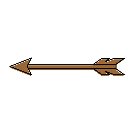Indian arrow isolated icon vector illustration, graphic design.