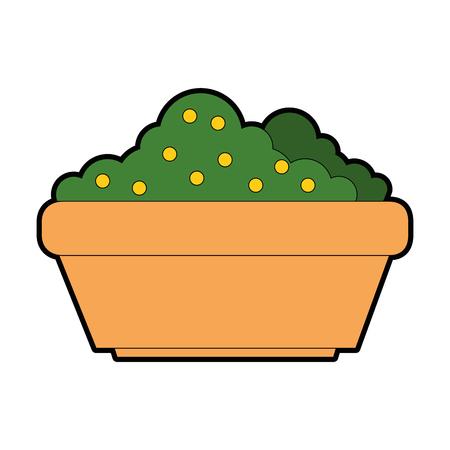Bush garden isolated icon vector illustration, graphic design.