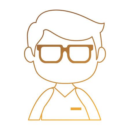little boy avatar characters vector illustration design