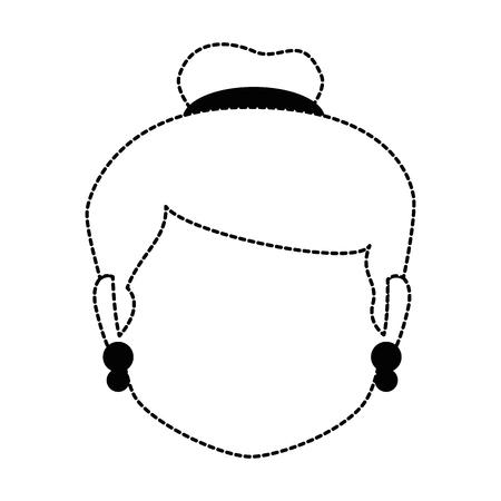 Grandmother head avatar. Çizim