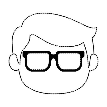 リトルボーイズヘッドアバターキャラクターベクターイラストデザイン