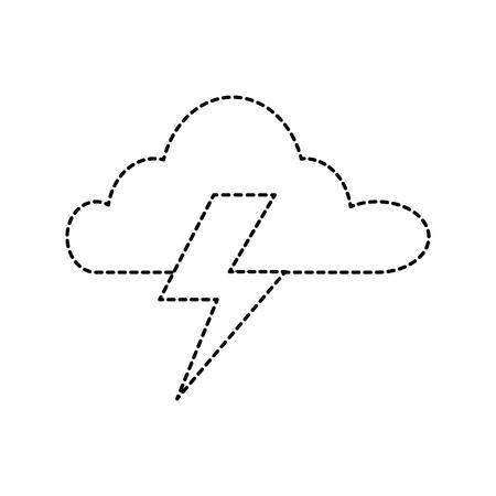 Wolk hemel met stralen pictogram.