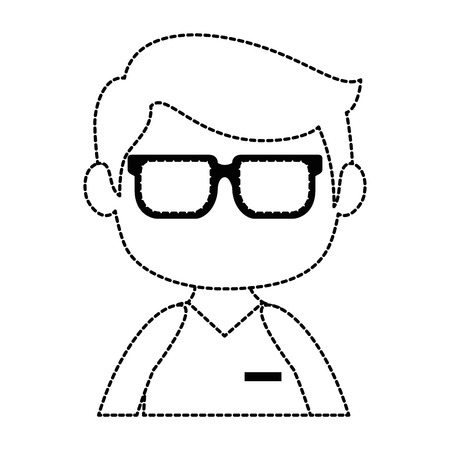 小さな男の子アバターをキャラクター。  イラスト・ベクター素材