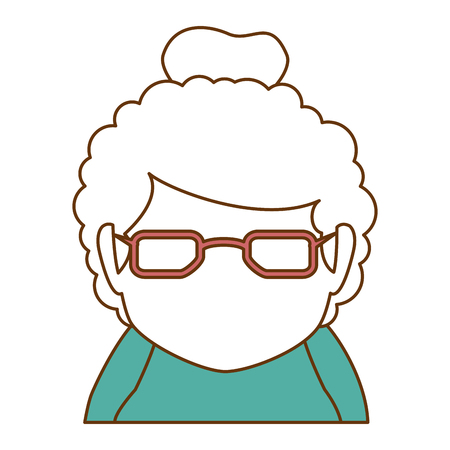 Grandmother avatar character. Illustration